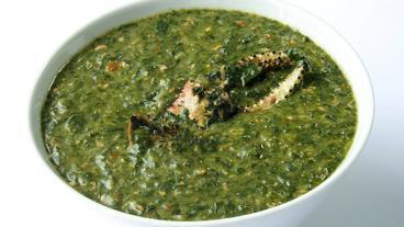 Callaloo Soup with Crab Recipe