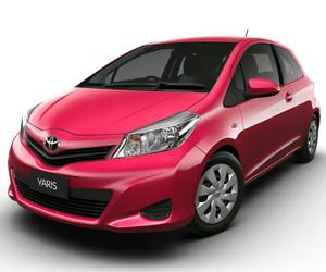 Red 2014 Toyota Yaris