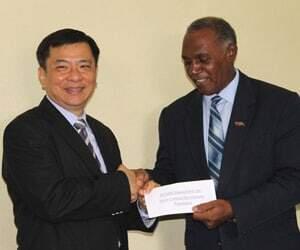 Ambassador Chiou Donates