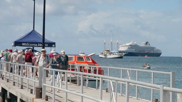 Cruise Ships Off Nevis Island