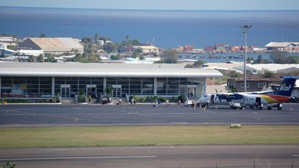 LIAT Flight At St. Kitts' Airport