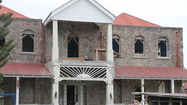 Nevis Government House Being Restored