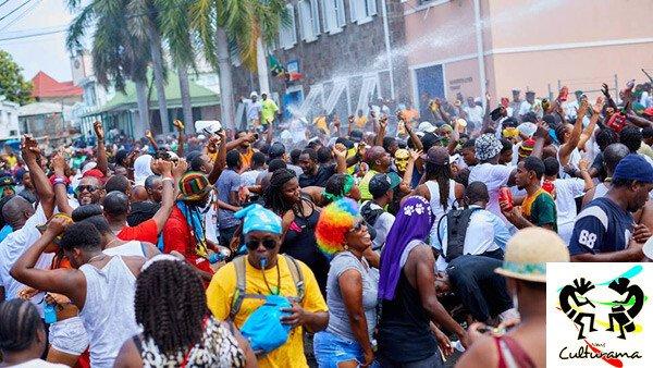 Nevis Culturama Participants Fill The Streets