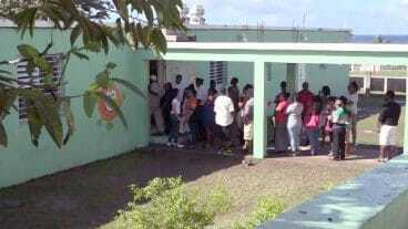 Voters In Nevis On Election Day