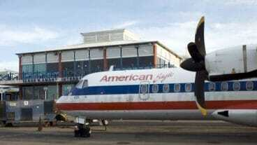 American Eagle at Nevis Airport