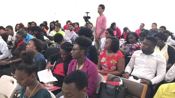 Youth Participants At Nevis Jobs Fair