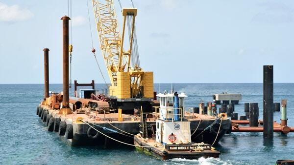 St. Kitts - Nevis' 2nd Cruise Pier Construction
