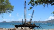 Work On Water Taxi Pier At Oualie Bay Continues