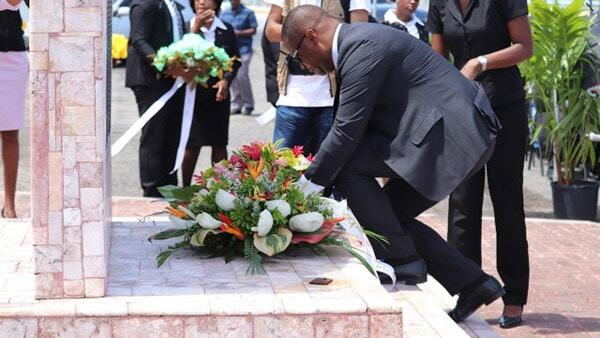 Wreath Laying - MV Christena Memorial