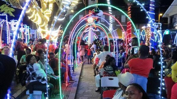 Christmas Lights In Charlestown, Nevis