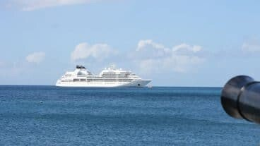 Cruise Ship Anchored Off Nevis