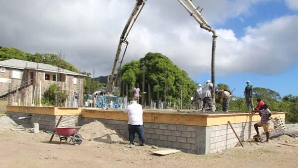 Gingerland Cultural Centre Construction