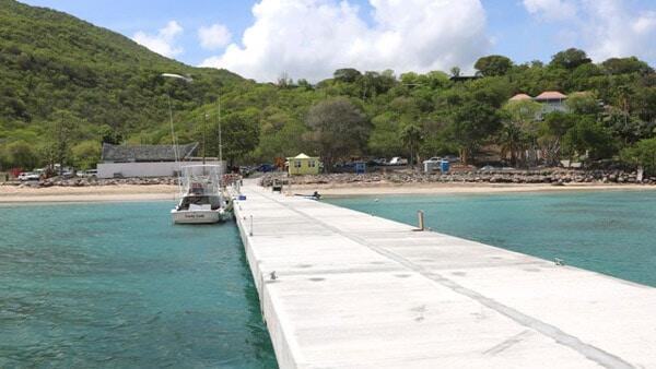 New Water Taxi Pier At Oualie Bay