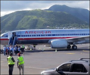 American Airlines Flight In St. Kitts