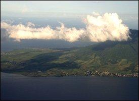 Aerial View Of Nevis, West Indies