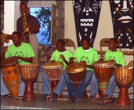Participants At Nevis' Heartbeat Drumming Festival
