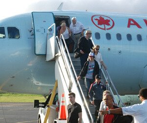 Air Canada Flight In St. Kitts