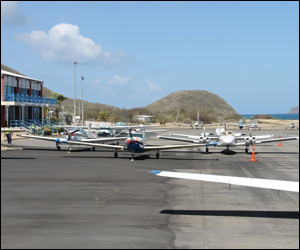 Aircraft at Nevis Airport