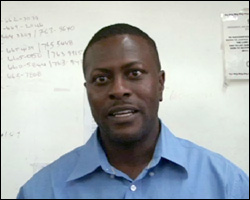 Sergeant Alanzo Carty of the Royal St. Christopher and Nevis Police Force