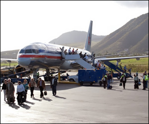 American Airlines Plane In St. Kitts