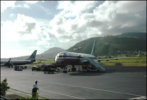 American Airlines Planes In St. Kitts
