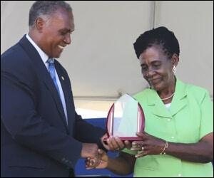 Nevis Agriculture Department Honors Brookes-Byron