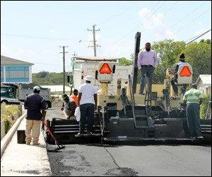 Asphalt Paver On Nevis