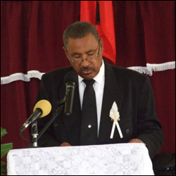 Mr. Athill Rawlins Delivers Eulogy