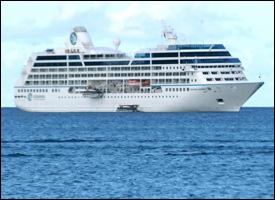 Azamara Cruise Ship Anchored Off Nevis