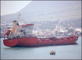 Oil Tanker Fouling The Water Of St. Kitts