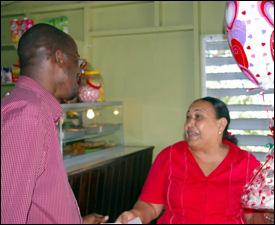 Minister Nisbett With Bambooshay Owner - Arlene Davis