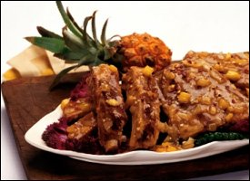 Spare Ribs With Pineapple BBQ Sauce