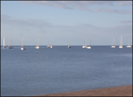 Boats Moored off St. Kitts