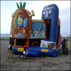Bouncy Castle On The Beach