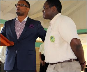 Nevis Tourism Minister With Rol-J