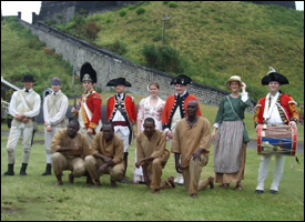 Renactment Artists At Brimstone Hill Fortress
