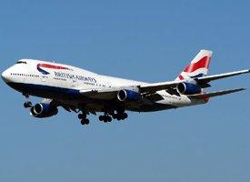 British Airways 747 On Approach