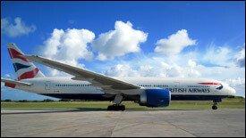 A British Airways' Boeing 777