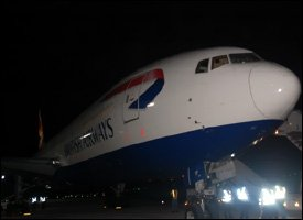 British Airways Boeing 777 At St. Kitts Airport