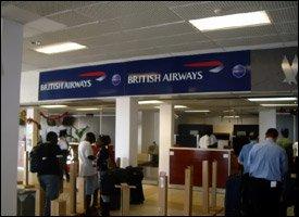 British Airways Counter - St. Kitts Airport