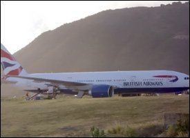 British Airways Flight At St. Kitts Airport