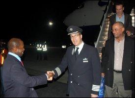 British Airways Flight Lands In St. Kitts