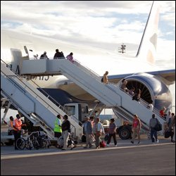 British Airways Passengers Arrive In St. Kitts