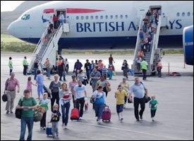 Passengers Arrive In St. Kitts On BA Flight