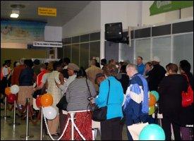 British Airways Passengers At St. Kitts Airport