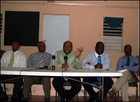 Guest Panel At Brown Hill Town Hall Meeting