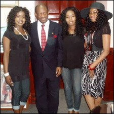 The Campbell Sisters With PM Denzil Douglas
