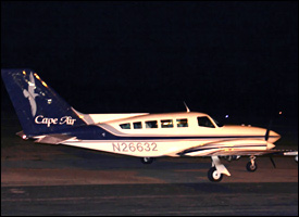 Cape Air Plane on Nevis Runway