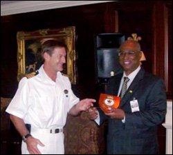 Captain Ivan Jermain and Premier Parry