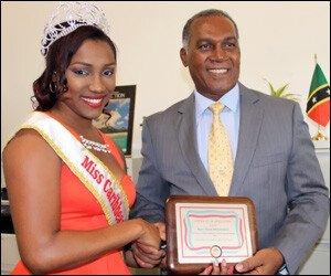 Nevis Premier Receives Visit From Caribbean Culture Queen
